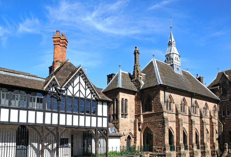 Construções do jardim do convento do St Marys, Coventry foto de stock