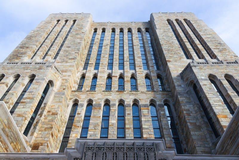 Construções do terreno de Yale University fotografia de stock