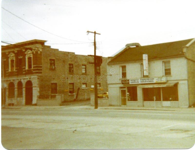 Construções do vintage, Belleville fotografia de stock royalty free