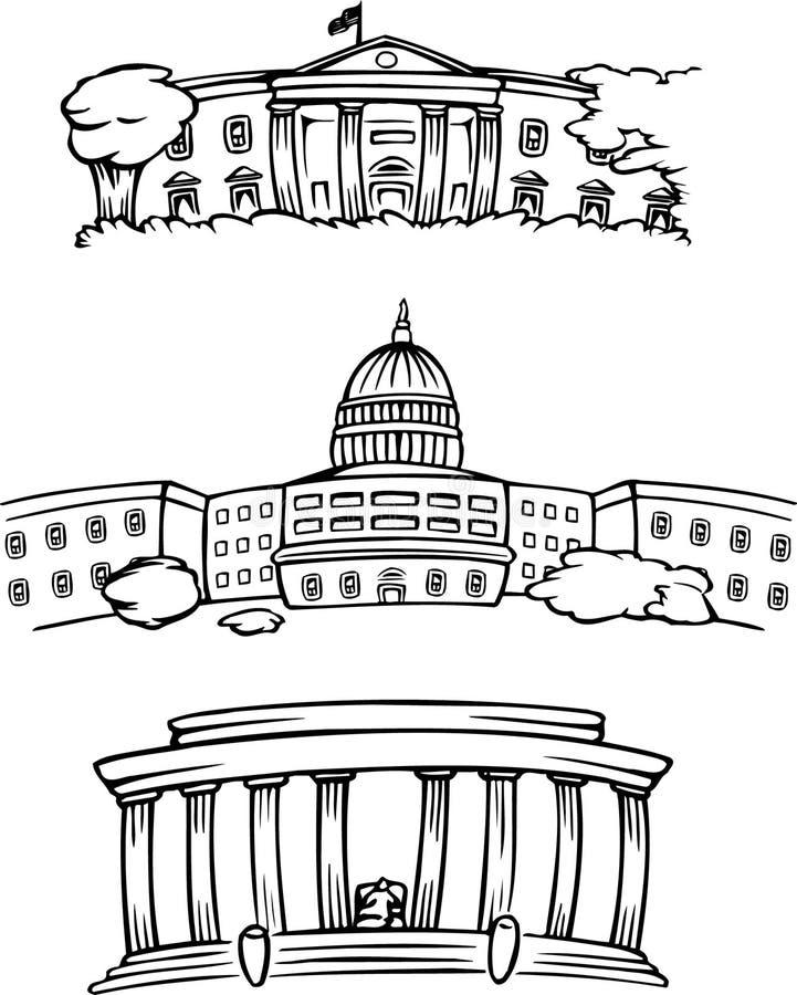 Construções do Washington DC ilustração do vetor