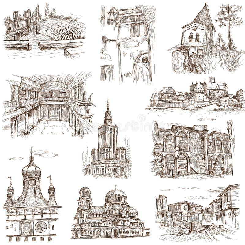 Construções e arquitetura ilustração do vetor