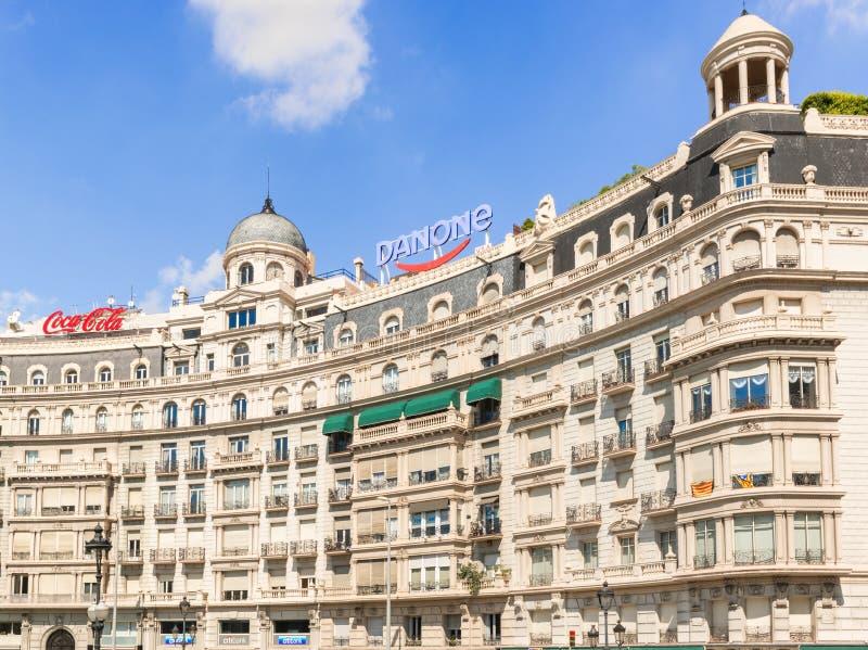 Construções em Barcelona, Espanha fotografia de stock royalty free