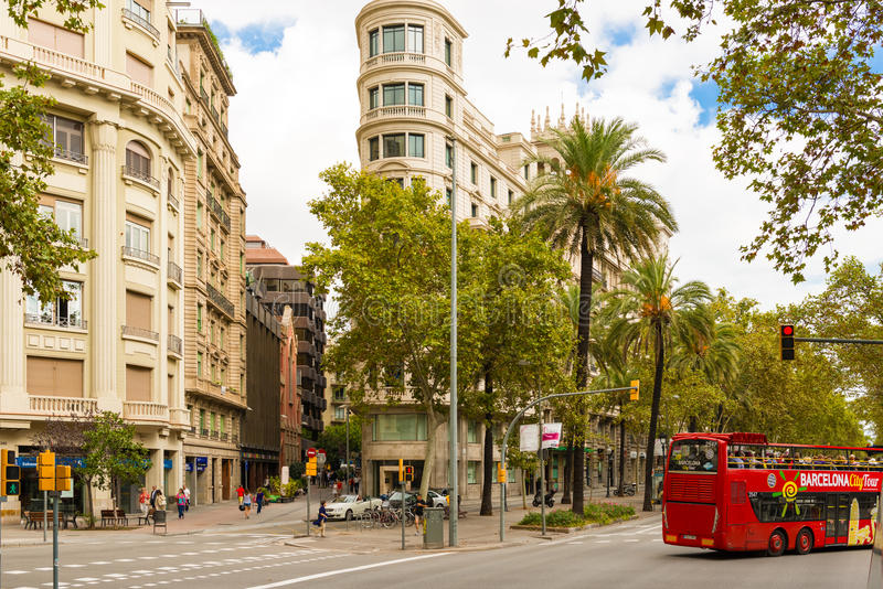 Construções em Barcelona, Espanha imagens de stock royalty free