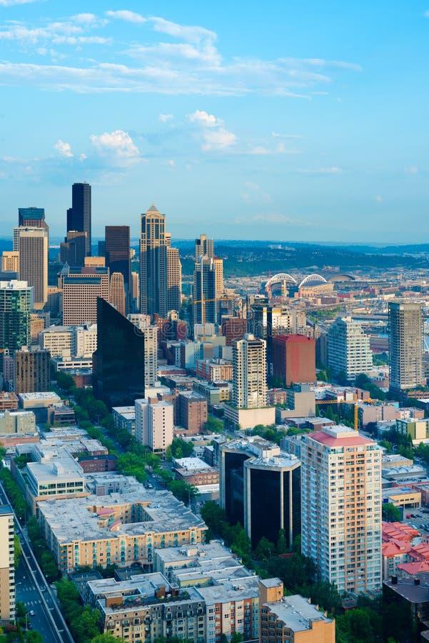 Construções em Seattle do centro imagem de stock royalty free