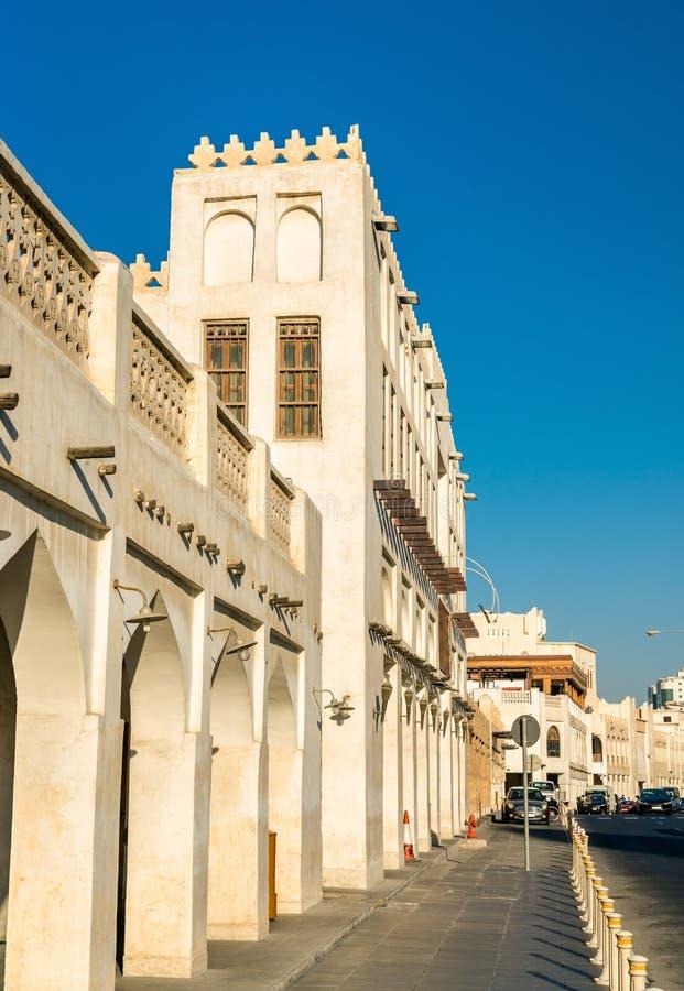Construções em Souq Waqif em Doha, Catar fotografia de stock