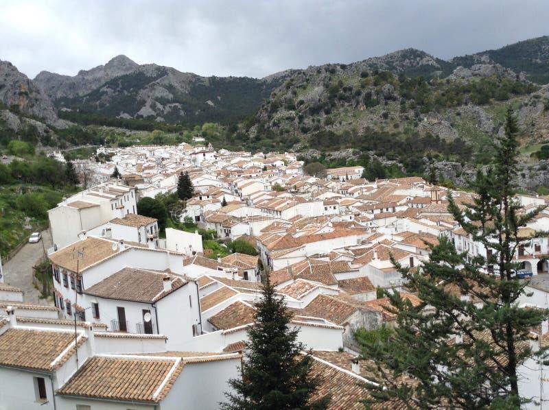 Construções espanholas fotografia de stock