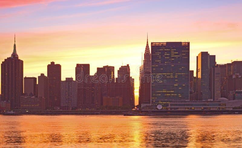 Construções famosas do marco de New York City, Manhattan imagens de stock royalty free