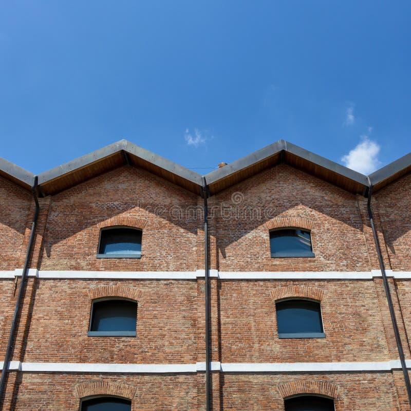 Construções históricas da fábrica fotografia de stock
