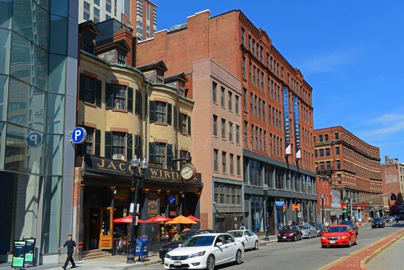 Construções históricas de Boston, Massachusetts, EUA fotos de stock royalty free