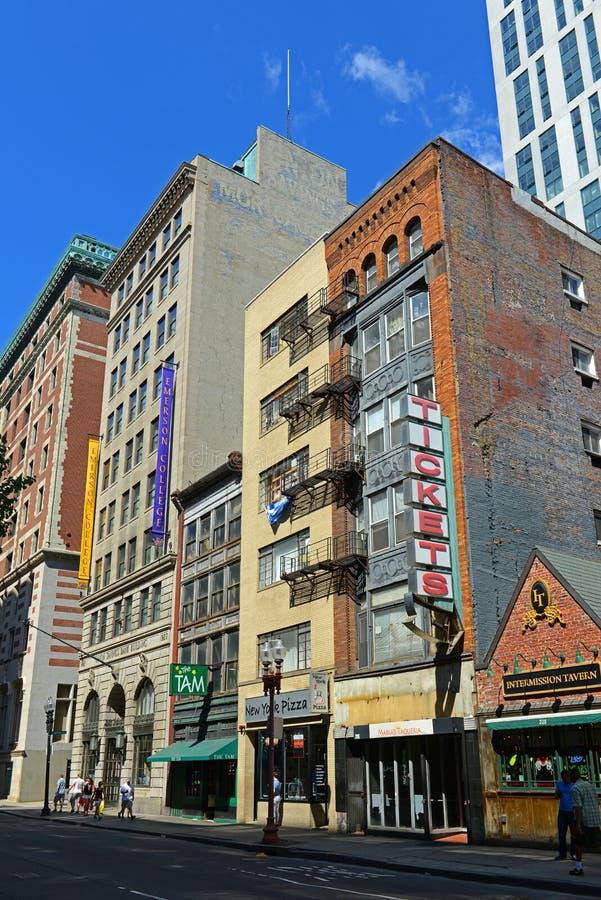 Construções históricas de Boston, Massachusetts, EUA fotos de stock