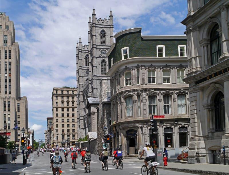 Construções históricas de Montreal foto de stock