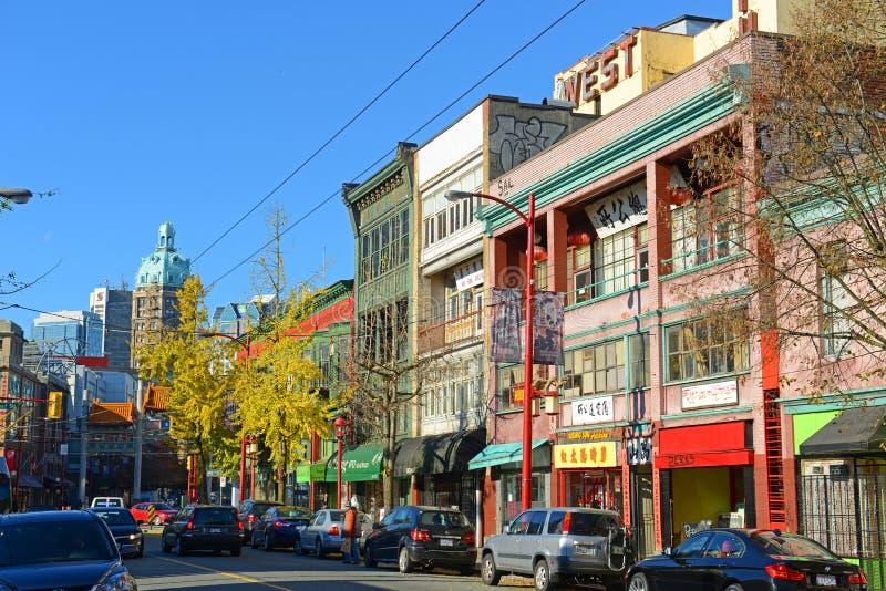 Construções históricas do bairro chinês, Vancôver, BC, Canadá foto de stock