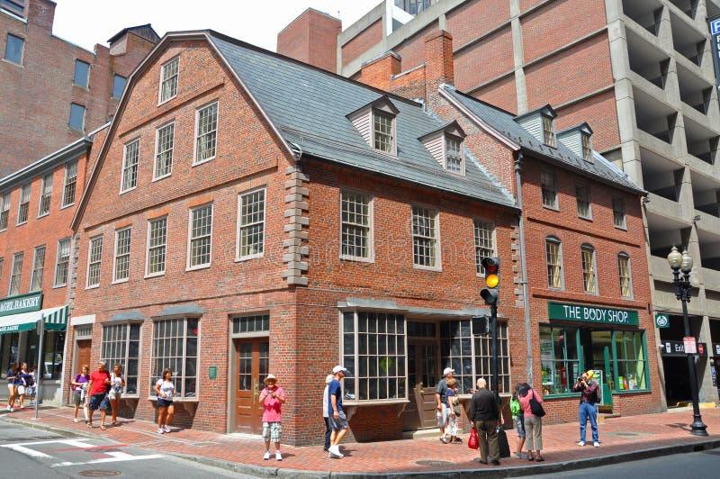 Construções históricas em Boston do centro, EUA imagens de stock