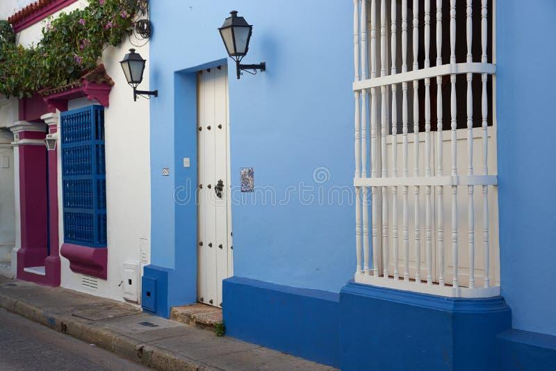 Construções históricas em Cartagena de Índia foto de stock
