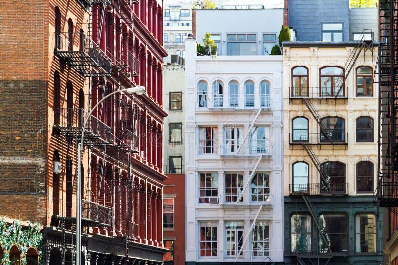 Construções históricas em SoHo Manhattan New York City fotografia de stock