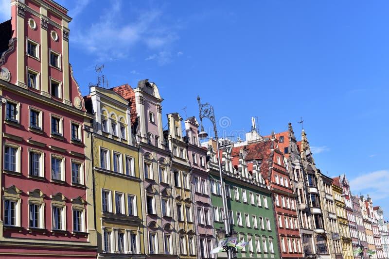 Construções históricas em Wroclaw foto de stock royalty free