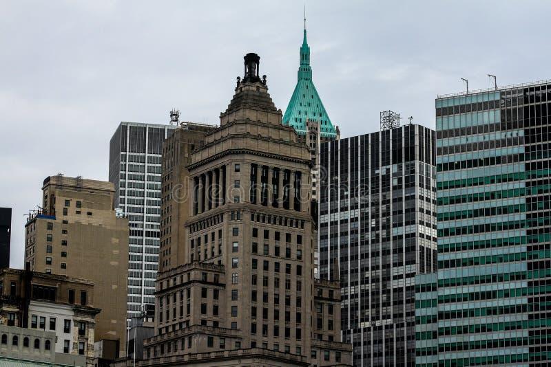 Construções históricas no Lower Manhattan, NYC foto de stock royalty free