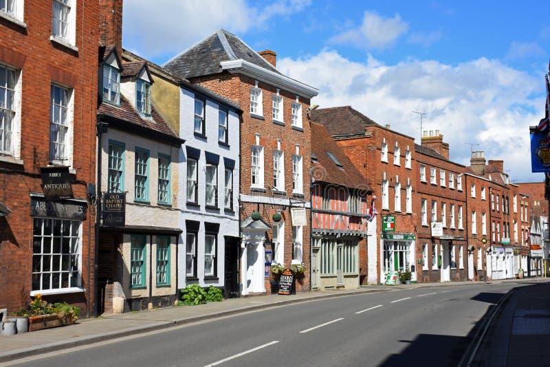 Construções históricas, Tewkesbury, Gloucestershire, Reino Unido fotos de stock