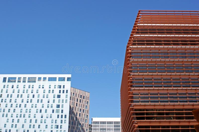 Construções incorporadas foto de stock