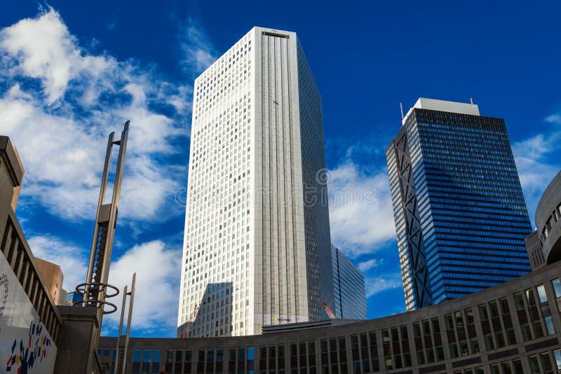 Construções modernas de Shinjuku foto de stock