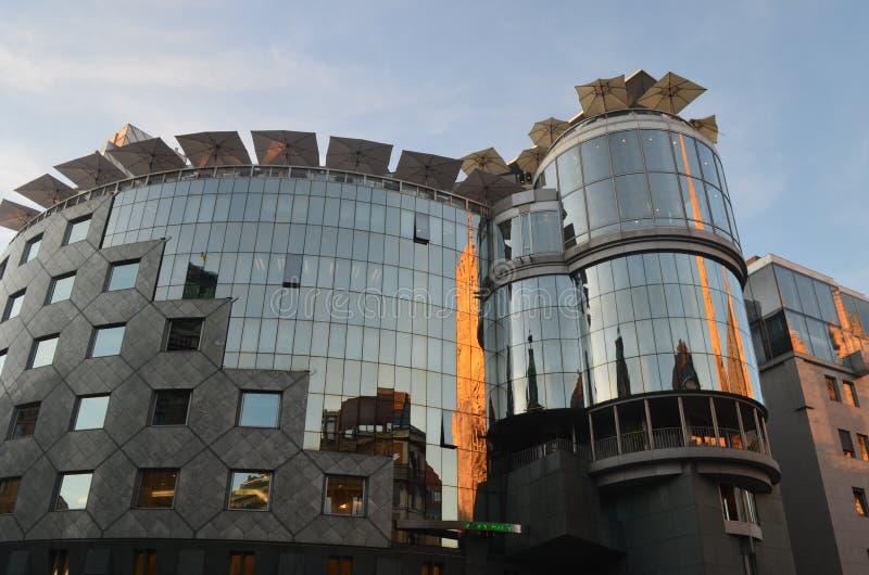 Construções modernas em Viena fotos de stock royalty free