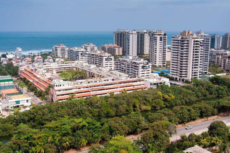 Construções modernas novas do condomínio em Rio de janeiro imagem de stock