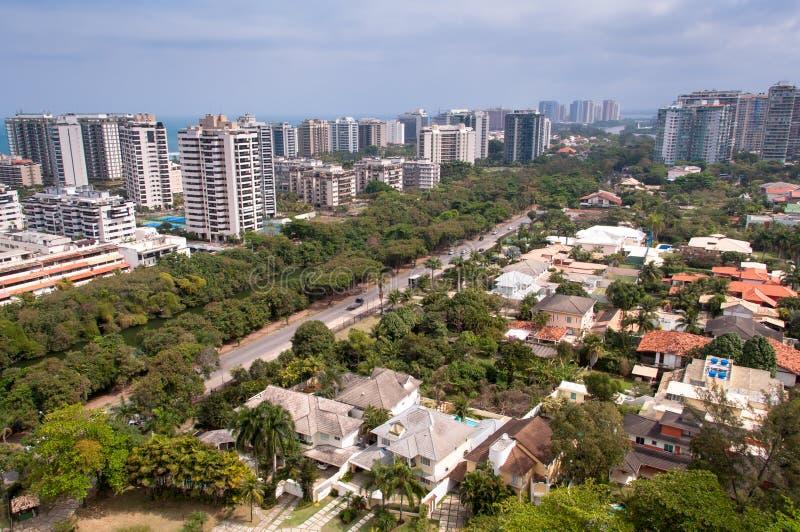 Construções modernas novas do condomínio em Rio de janeiro fotografia de stock