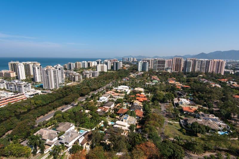 Construções modernas novas do condomínio em Rio de janeiro imagem de stock royalty free