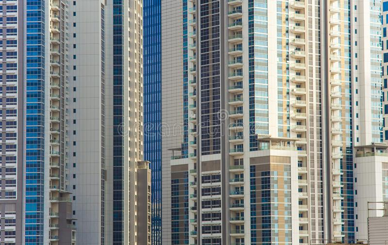 Construções modernas ou textura dos apartamentos dos bens imobiliários fotografia de stock