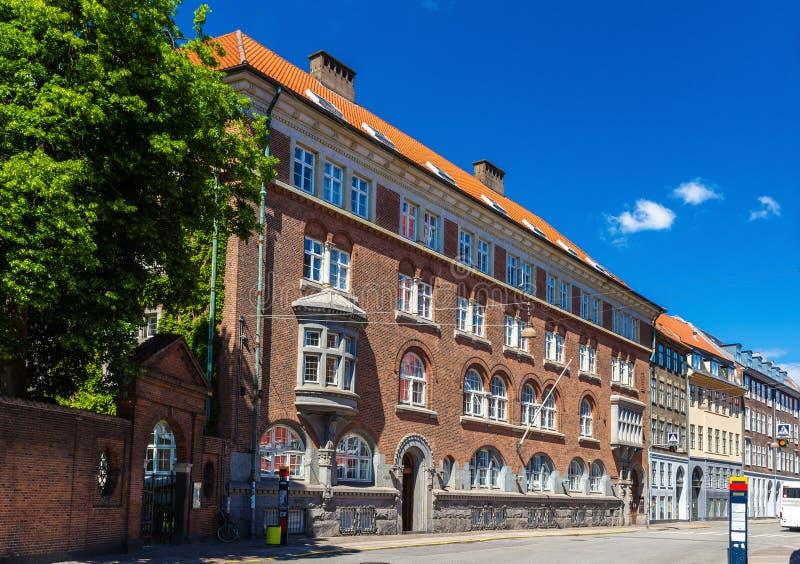Construções no centro da cidade de Copenhaga fotografia de stock