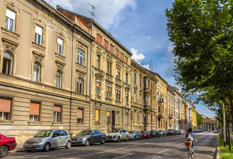 Construções no centro da cidade de Zagreb foto de stock