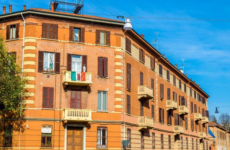 Construções no centro de cidade de Ferrara fotografia de stock