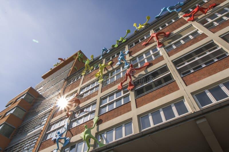 Construções no passeio do Reno de Dusseldorf imagens de stock royalty free