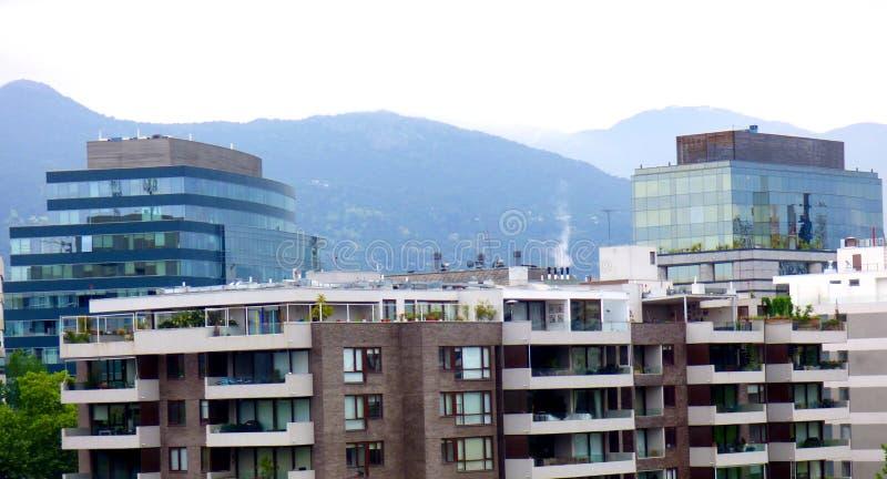 Construções no Santiago do Chile imagens de stock