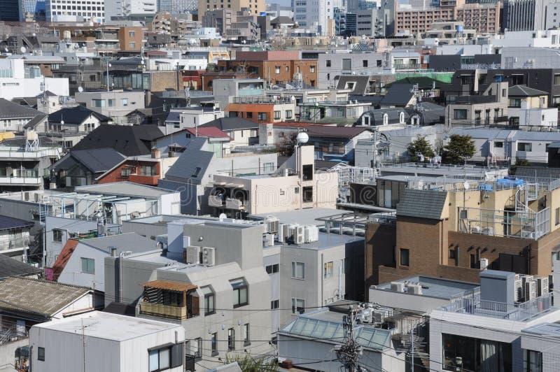 Construções no Tóquio Japão imagem de stock