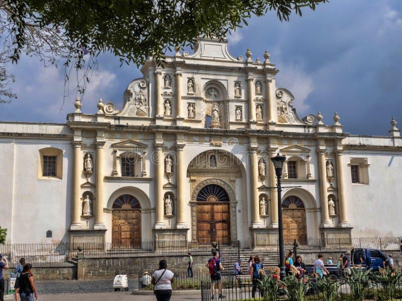 Construções preservadas da colonização espanhola, Guatemala de Antígua imagens de stock royalty free
