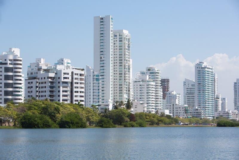Construções residenciais em Cartagena imagens de stock