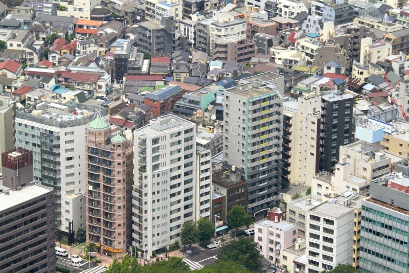 Construções residenciais no Tóquio do centro fotografia de stock