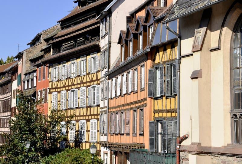 Construções Strasbourg de Vimtage fotos de stock