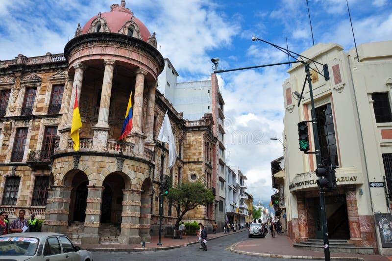 Construções velhas de Cuenca, Cuenca, Equador fotos de stock