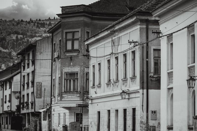 Construções velhas em Travnik fotos de stock royalty free