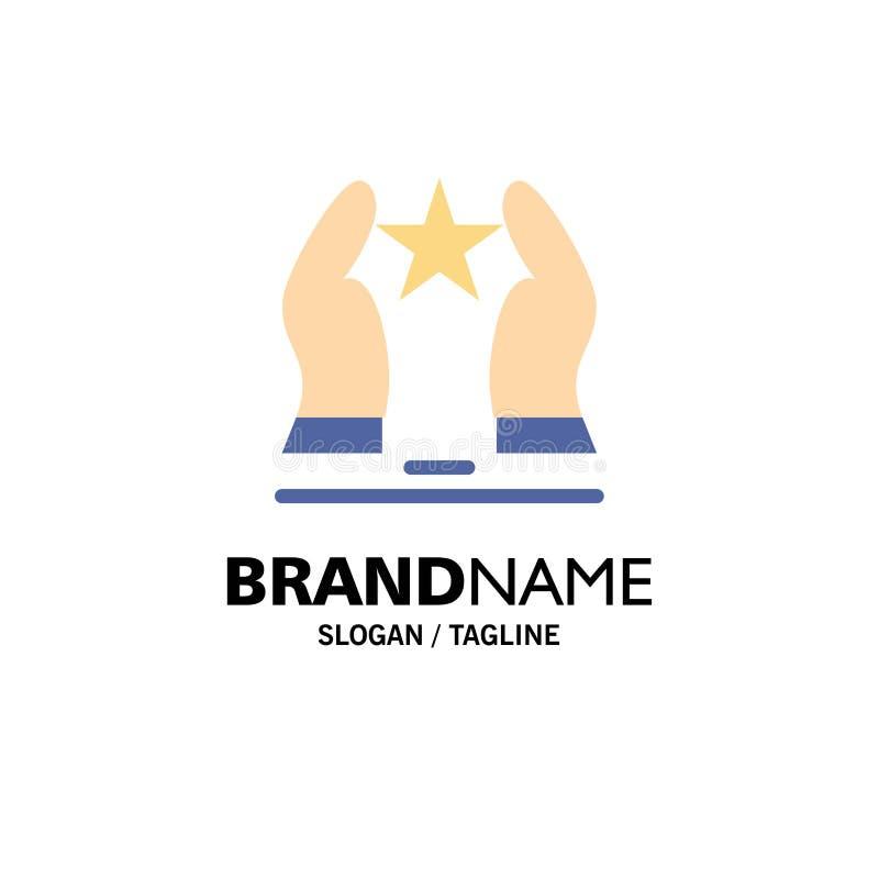 Construído, importe-se, motive-se, motivação, negócio Logo Template da estrela cor lisa ilustração royalty free