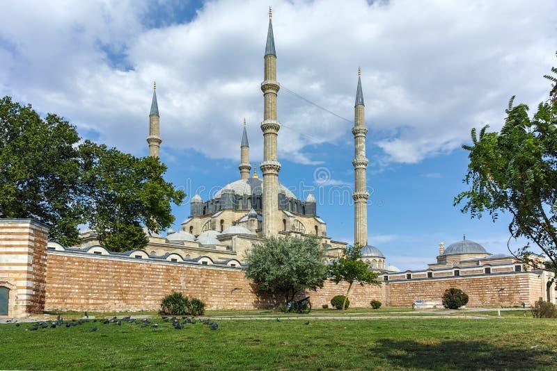 Construído pelo arquiteto Mimar Sinan entre a mesquita 1569 e 1575 de Selimiye na cidade de Edirne fotos de stock royalty free