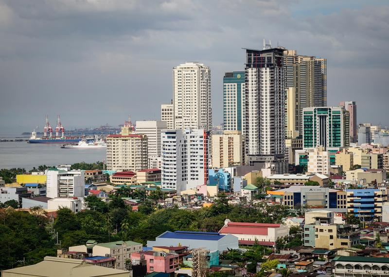 Constru??es em Manila, Filipinas foto de stock royalty free
