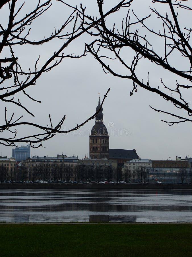 Constru??es medievais no centro hist?rico de Riga velho imagens de stock royalty free