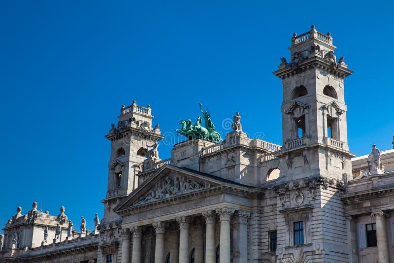 Constru??o bonita do museu etnogr?fico em Budapest fotografia de stock royalty free