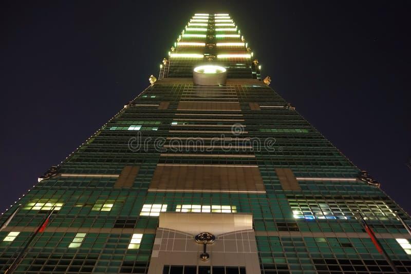Constru??o de Taipei 101 em Taiwan foto de stock