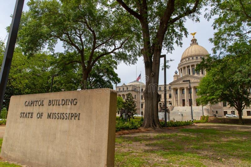Constru??o do Capit?lio do estado de Mississippi, Jackson, MS fotos de stock royalty free