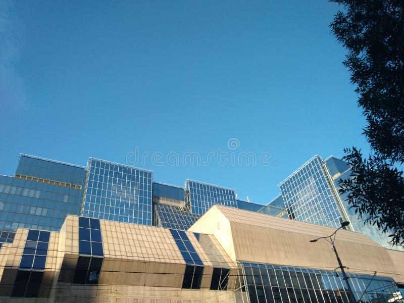 Constru??o moderna em Belgrado, S?rvia imagem de stock royalty free