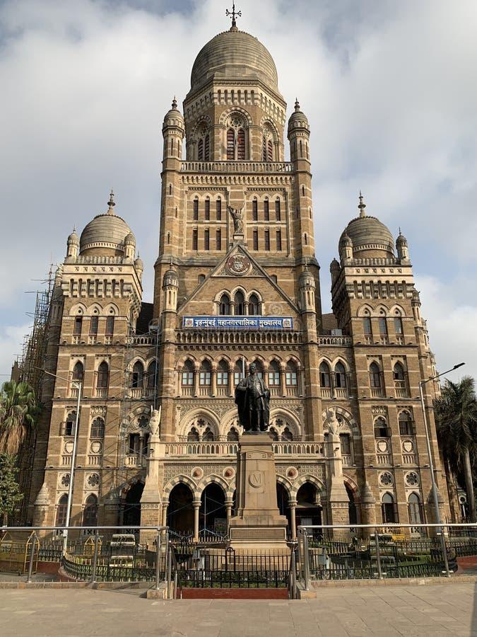 Constru??o municipal de Mumbai, Mumbai, ?ndia fotografia de stock royalty free